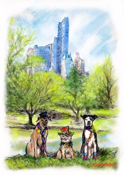 mei '16) Hondjes in New York, Central Park